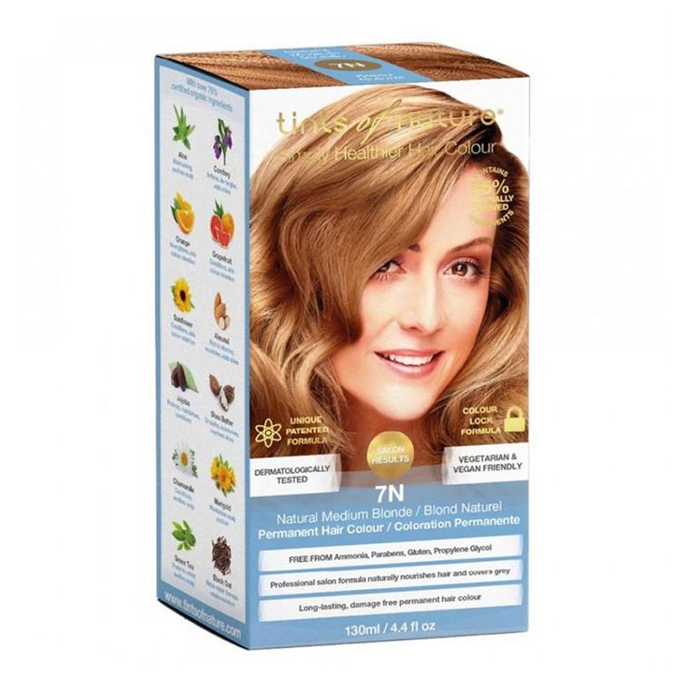 Tints of Nature Permanent Hair Colour 7N Natural Medium Blonde, 4.4 Oz