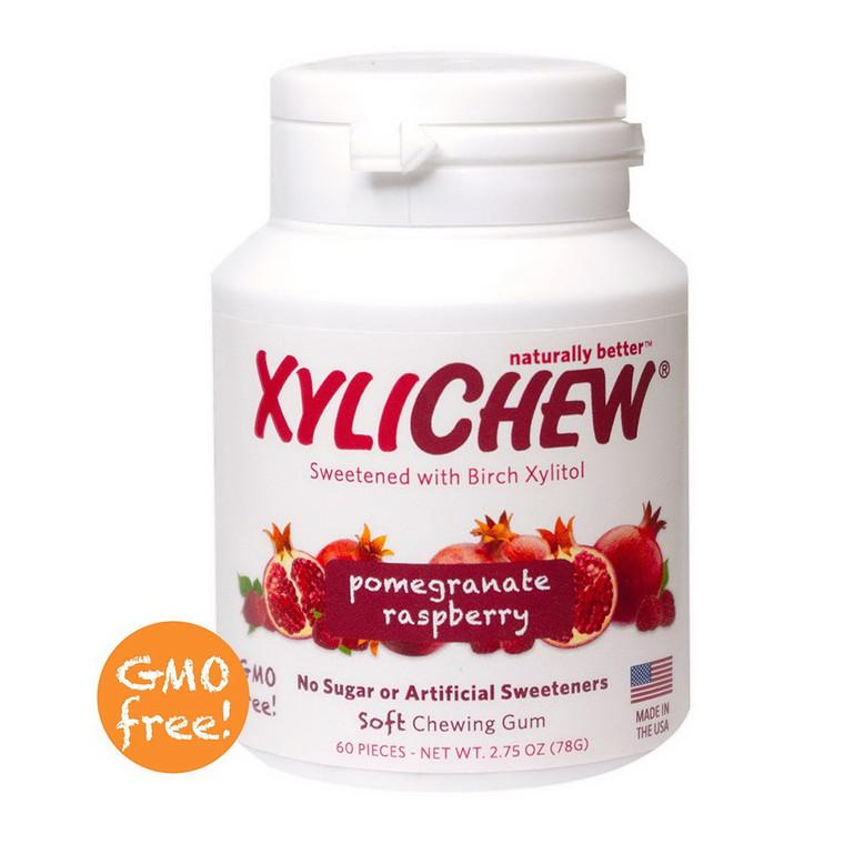 Xylichew 100% Xylitol Chewing Gum, Pomegranate Raspberry, 60 Ea