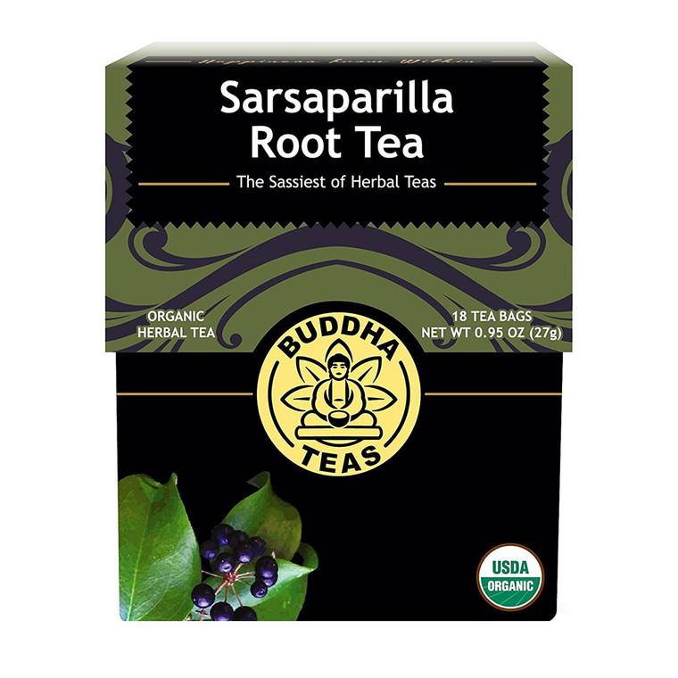 Buddha Teas Organic Sarsaparilla Root Tea Bags, 18 Ea