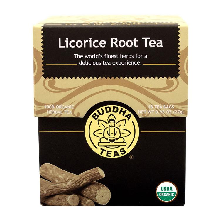 Buddha Tea Organic Licorice Root Tea Bags, 18 Ea