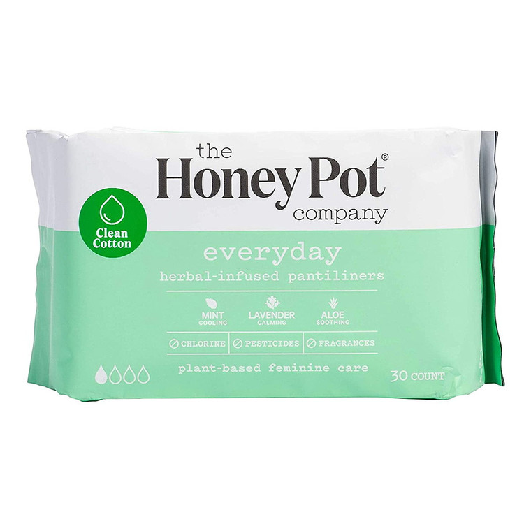 The Honey Pot Company Everyday Herbal-Infused Pantiliners , 30 Ea