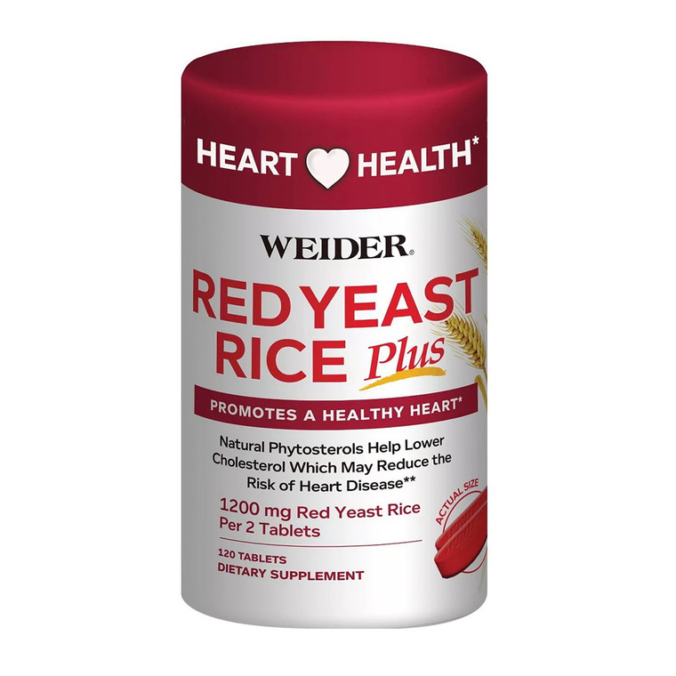 Weider Red Yeast Rice Dietary Supplement Capsules, 120 Ea
