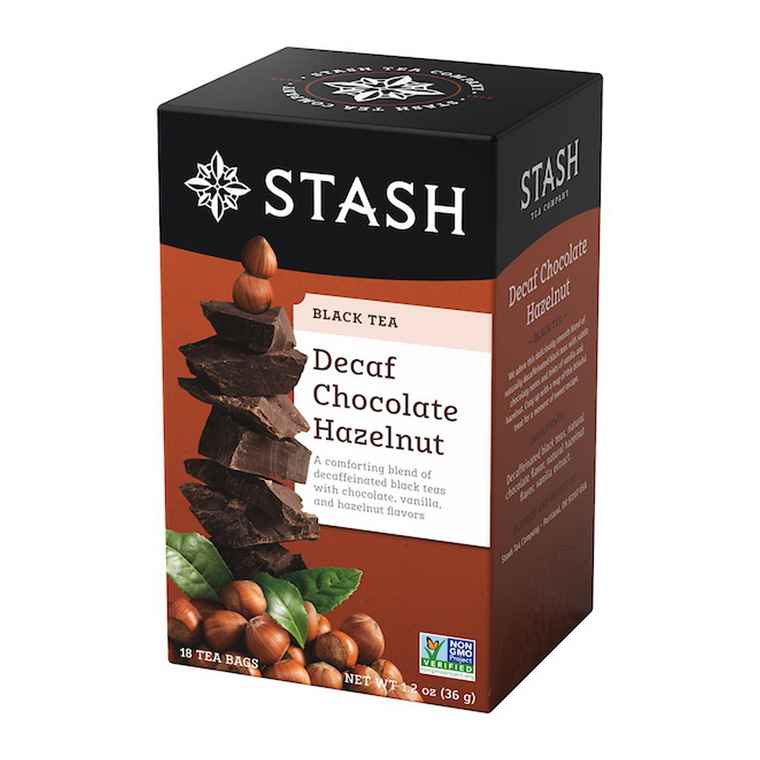 Stash Decaf Chocolate Hazelnut Tea Bags, 18 Ea