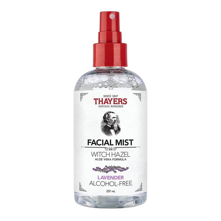 Thayers Natural Remedies Facial Mist Witch Hazel Toner, Lavender, 8 Oz