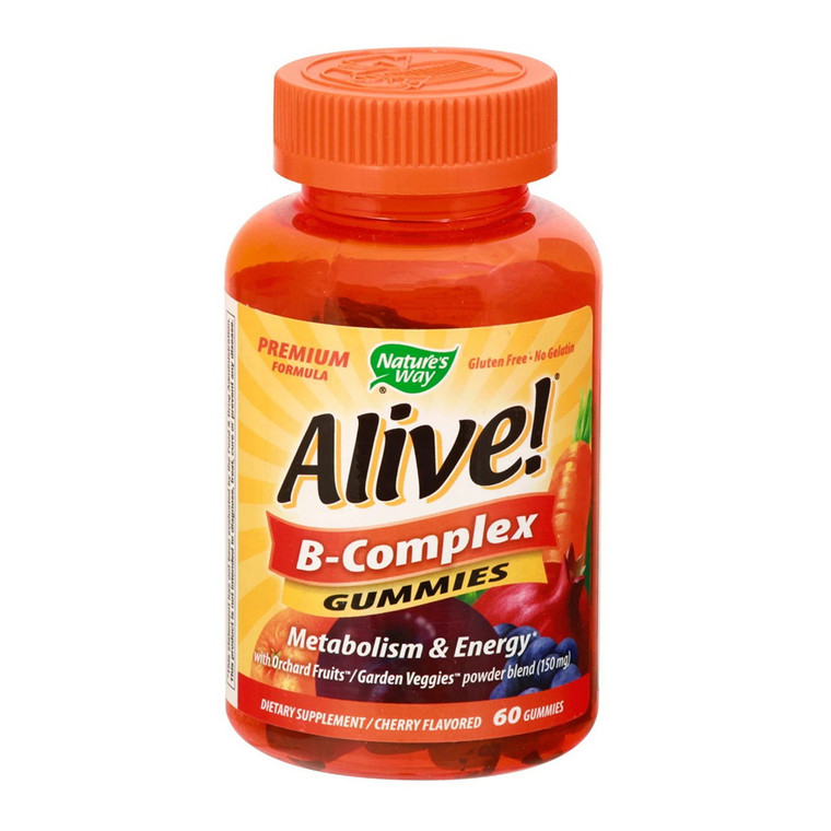 Natures Way Alive B-Complex Metabolism and Energy Gummies, 60 Ea