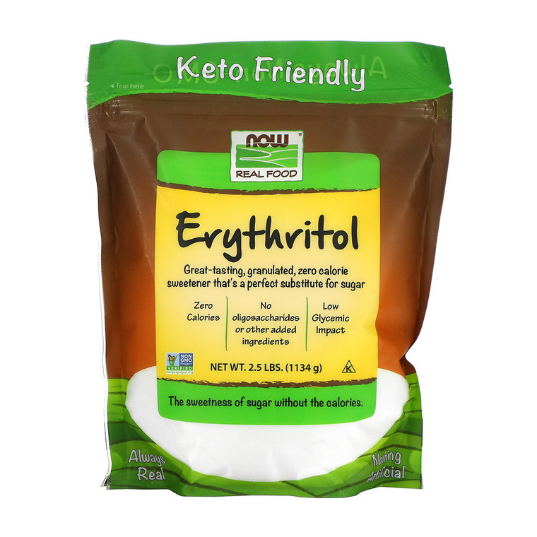 Now Real Foods Erythritol, 2.5 Lbs