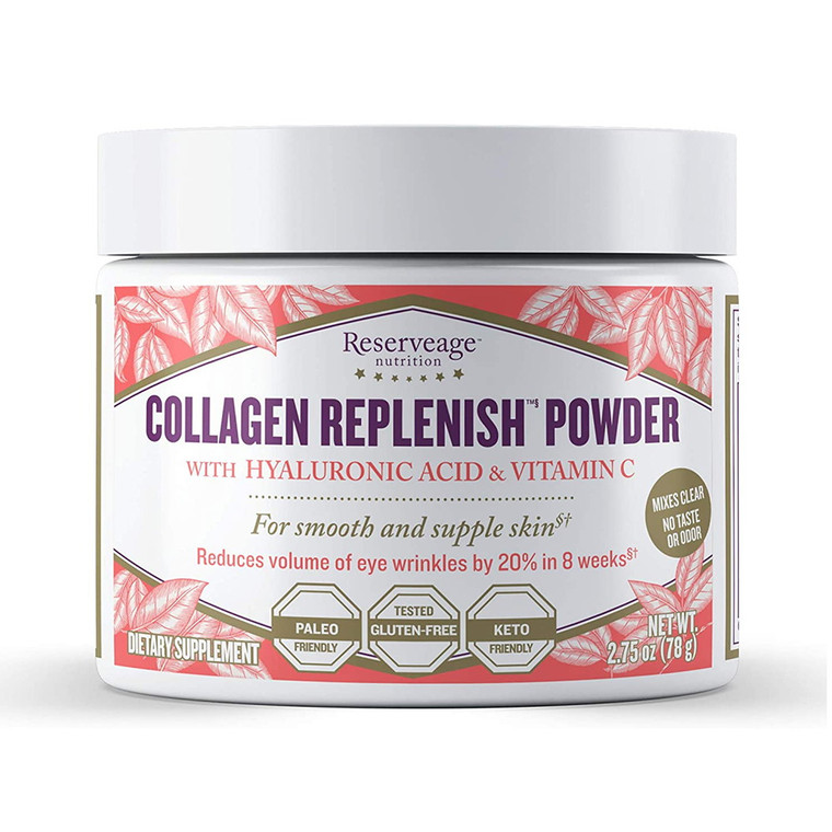 Reserveage Nutrition Collagen Replenish Powder, Skin and Nail Supplement, 2.75 Oz