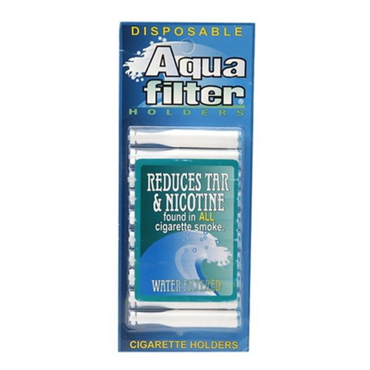 Aqua Filter Disposable Water Filtered Cigarette Holders, 10 Ea