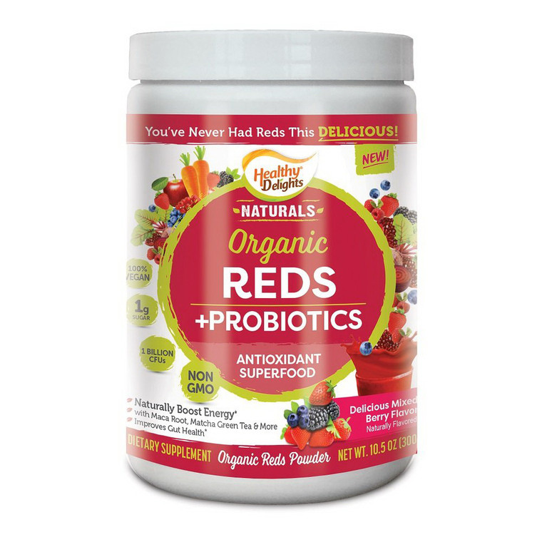 Healthy Delights Organic Natural Red Probiotic, Berry Flavor, 10.5 Oz