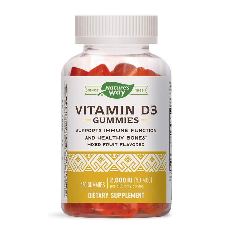 Nature's Way Vitamin D3 50 MCG Immune Support Gummies, 120 Ea