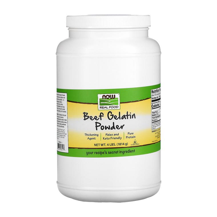 Now Foods Beef Gelatin Powder, 4 Lb