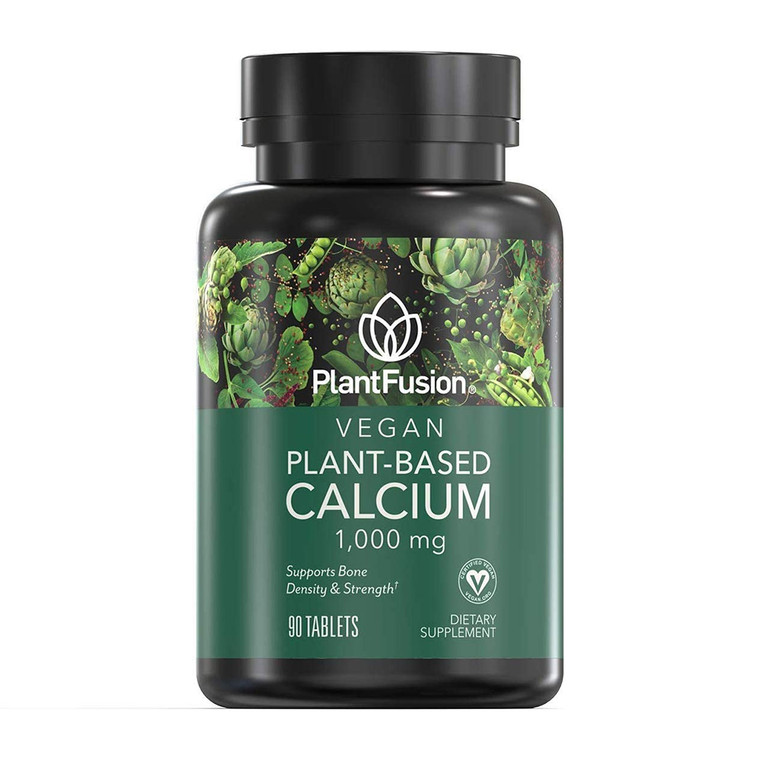 PlantFusion Vegan Planet-Based Calcium 1,000 mg Tablets, 90 Ea