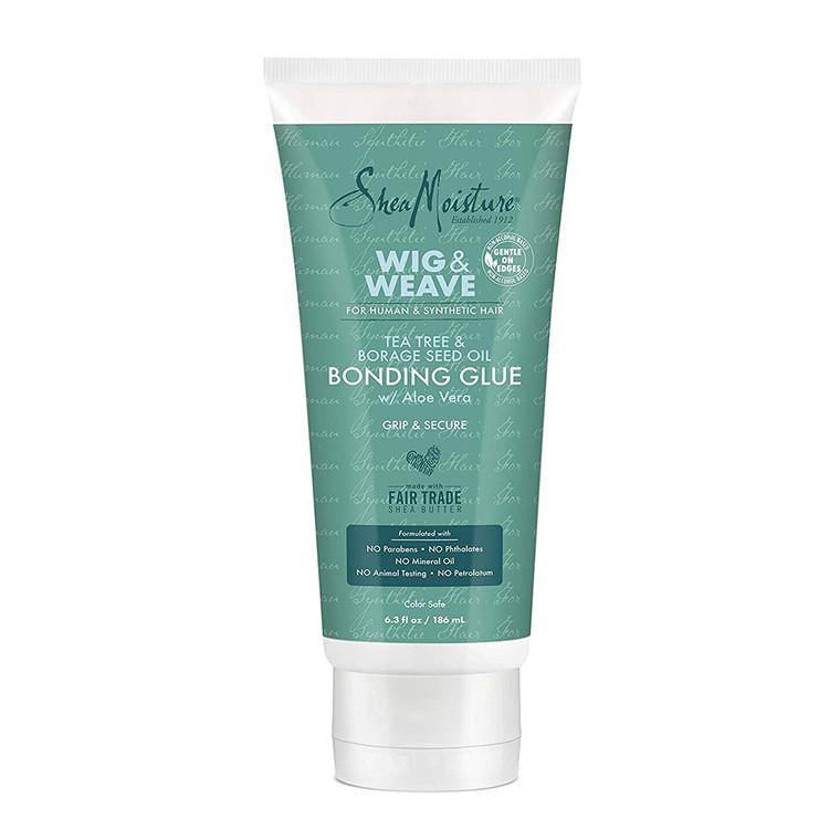Shea Moisture Bonding Glue Hair Cream for Wig and Weave, Tea Tree and Borage Seed, 6.3 Oz