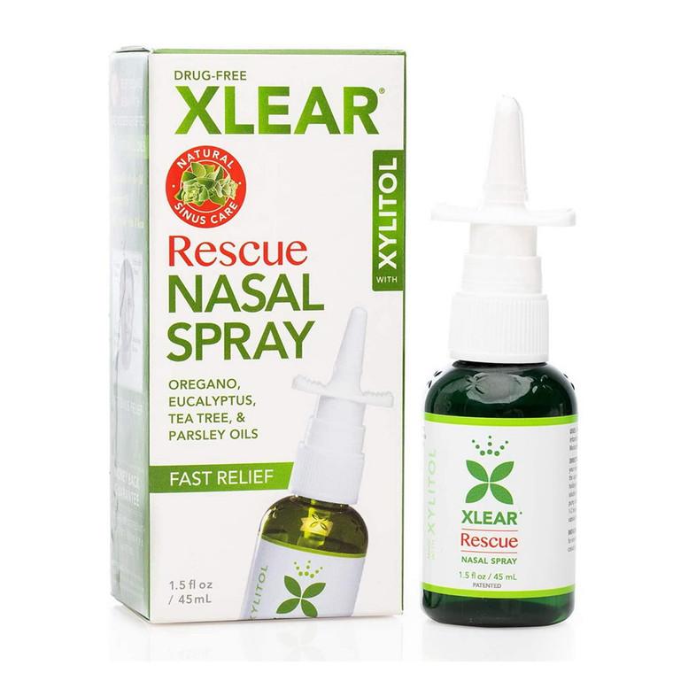 Xlear Rescue Nasal Spray with Xylitol, 1.5 Oz