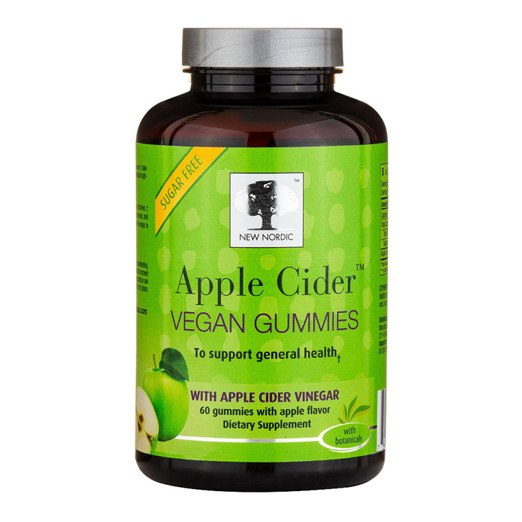 New Nordic Vinegar Apple Cider Vegan Gummies, 60 Ea