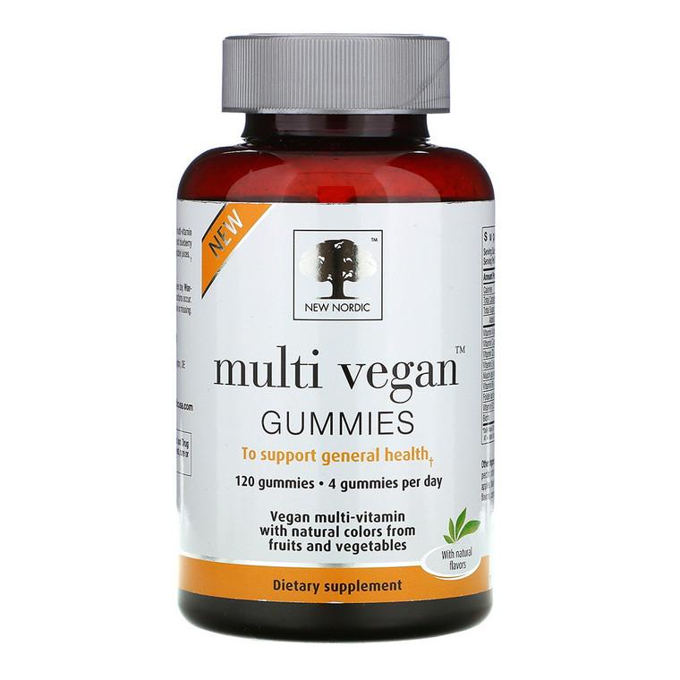 New Nordic Multi Vegan Gummies Orange, Blueberry and Strawberry, 120 Ea