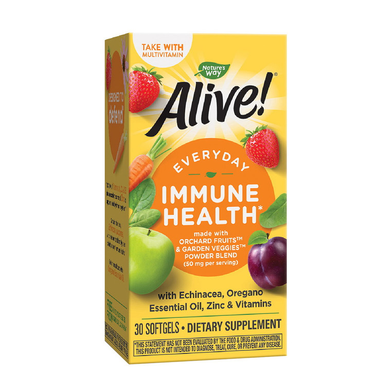 Natures Way Alive Everyday Immune Health with Echinacea and Zinc Softgels, 30 Ea