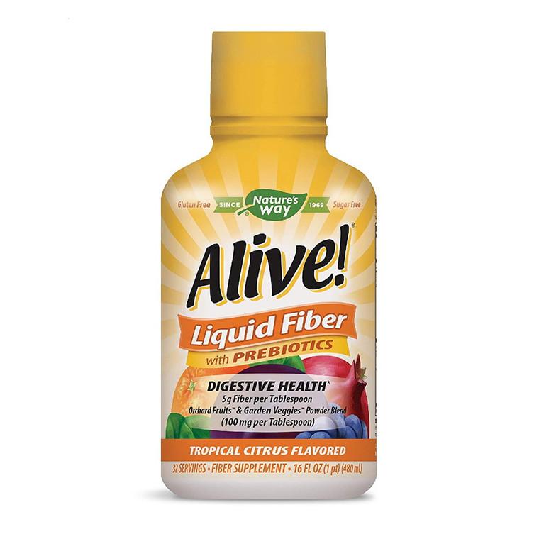 Natures Way Alive Liquid Fiber with Prebiotics Tropical Citrus, 16 Oz
