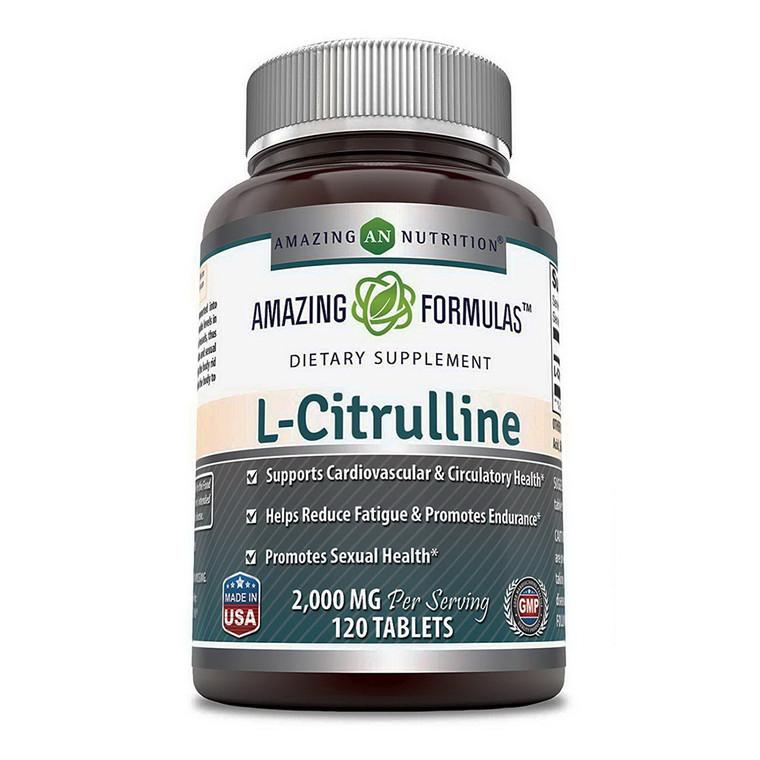 Amazing Formulas L Citrulline 2000mg Per Serving Tablets, 120 Ea