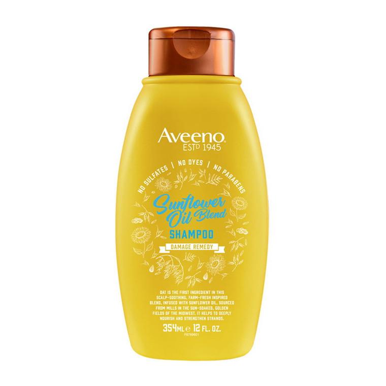 Aveeno Sunflower Oil Blend Shampoo For Dry Damaged Hair, 12 Oz