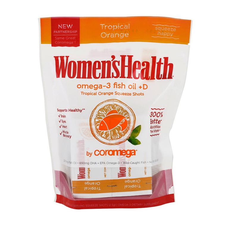 Coromega Women's Health Omega 3 Fish Oil  D, Tropical Orange, 120 Ea