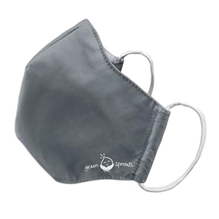 Green Sprouts Adult Reusable Face Mask, Small, Gray, 1 Ea