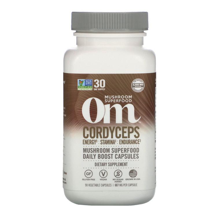 Om Organic Mushroom Nutrition Cordyceps Mushroom Superfood Daily Boost Capsules, 90 Ea