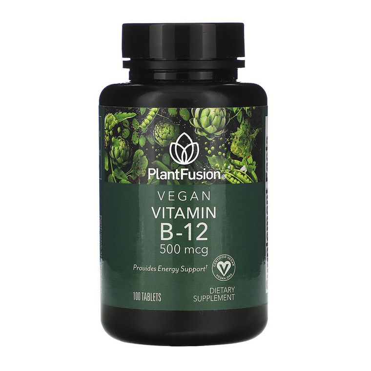PlantFusion Vegan Vitamin B-12 500 mcg Tablets, 100 Ea