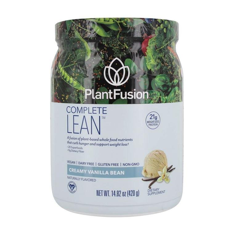 PlantFusion Lean Weight Loss Protein Powder, Vanilla Bean, 14.8 Oz