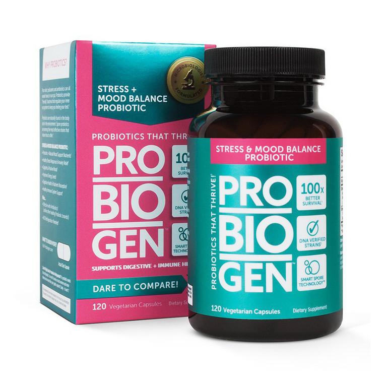 Probiogen Stress and Mood Balance Probiotics Capsules, 120 Ea