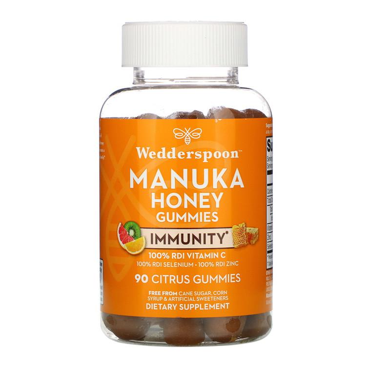 Wedderspoon Citrus Manuka Honey Immunity Gummies, 90 Ea