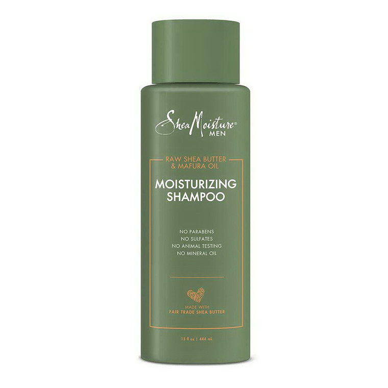 Shea Moisture Moisturizing Shampoo Raw Shea Butter and Mafura Oil, 15 Oz