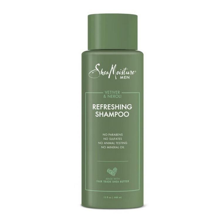 Shea Moisture Men Refreshing Shampoo Vetiver and Neroli, 15 Oz