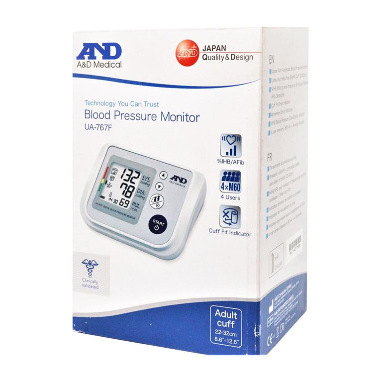 A&D Upper Arm Digital Blood Pressure Monitor UA-767F, 1 Ea