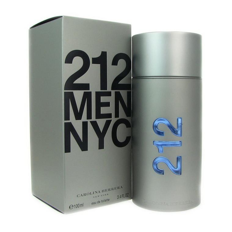 Carolina Herrera Cologne for Men Eau De 212 Men Spray, 3.4 Oz