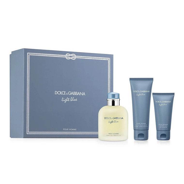Light Blue by Dolce and Gabbana 125ml EDT Gift Set, 3 Ea