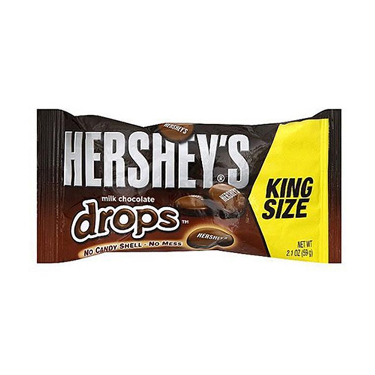 Hersheys Milk Chocolate, Drops King Size - 2.1 Oz, 18 Ea