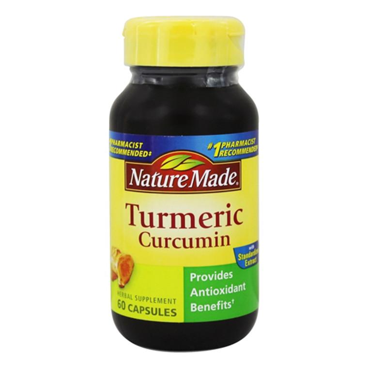 Nature Made Turmeric Curcumin Capsules For Antioxidant Herbal Supplement, 60 Ea