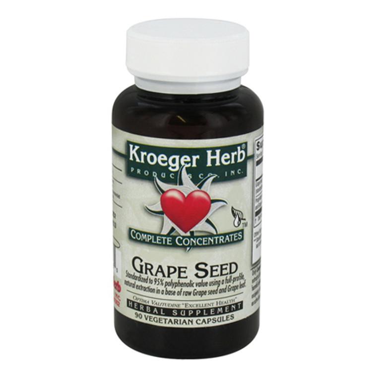 Kroeger Herb Complete Concentrate Grape Seed Vegetarian Capsules, 90 Ea