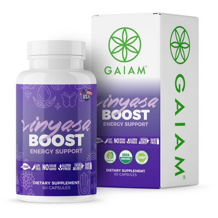 Organic Vinyasa Boost For Energy Support Capsules By Gaiam, 60 Ea