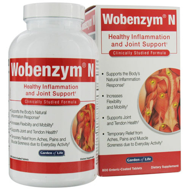 Garden Of Life Wobenzym N Healthy Inflammation And Joint Support Tablets - 800 Ea
