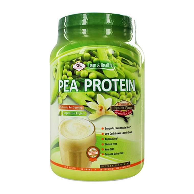 Olympian Labs Lean And Healthy Pea Protein, Vanilla, 25.9 Oz