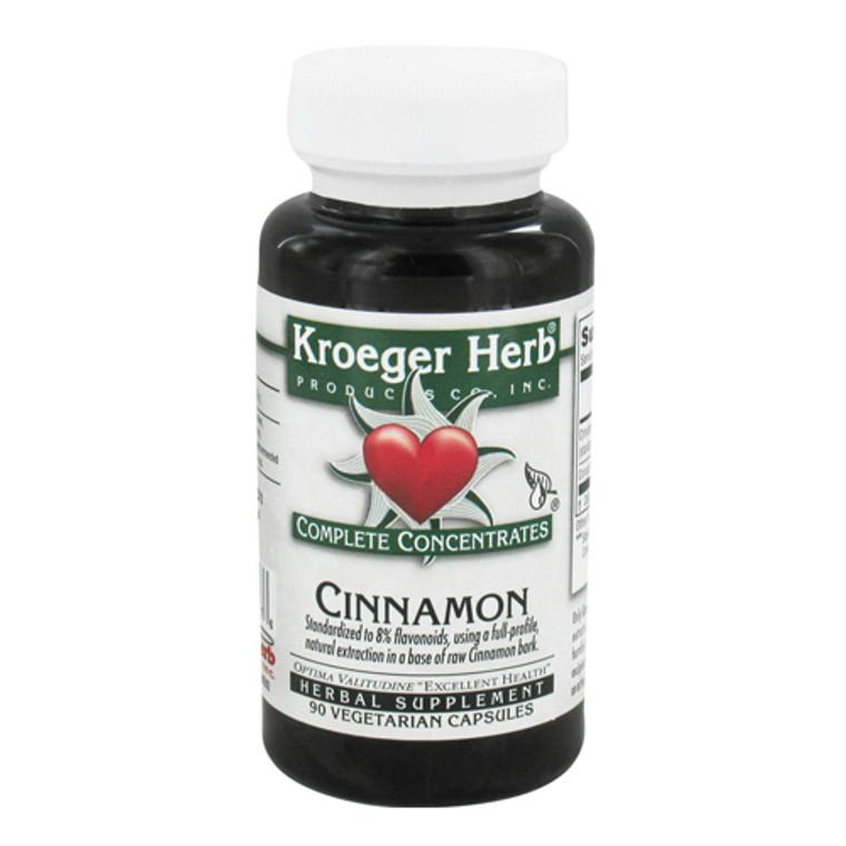 Kroeger Herb Complete Concentrate, Cinnamon Vegetarian Capsules, 90 Ea