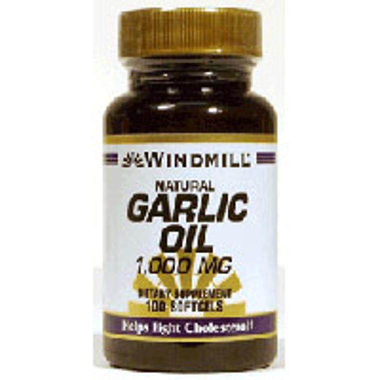Windmill Odorless Garlic Oil 1000 Mg Soft Gels - 100 Ea
