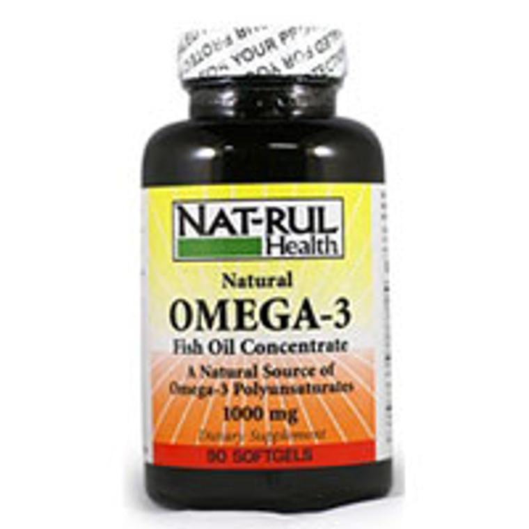 Omega 3 Fish Oil 1000Mg Softgels By Nat-Rul - 90 Ea