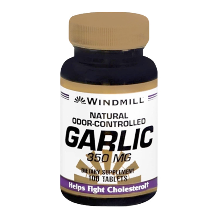 Windmill Natural Odor-Controlled Garlic 350 Mg Tablets - 100 Ea