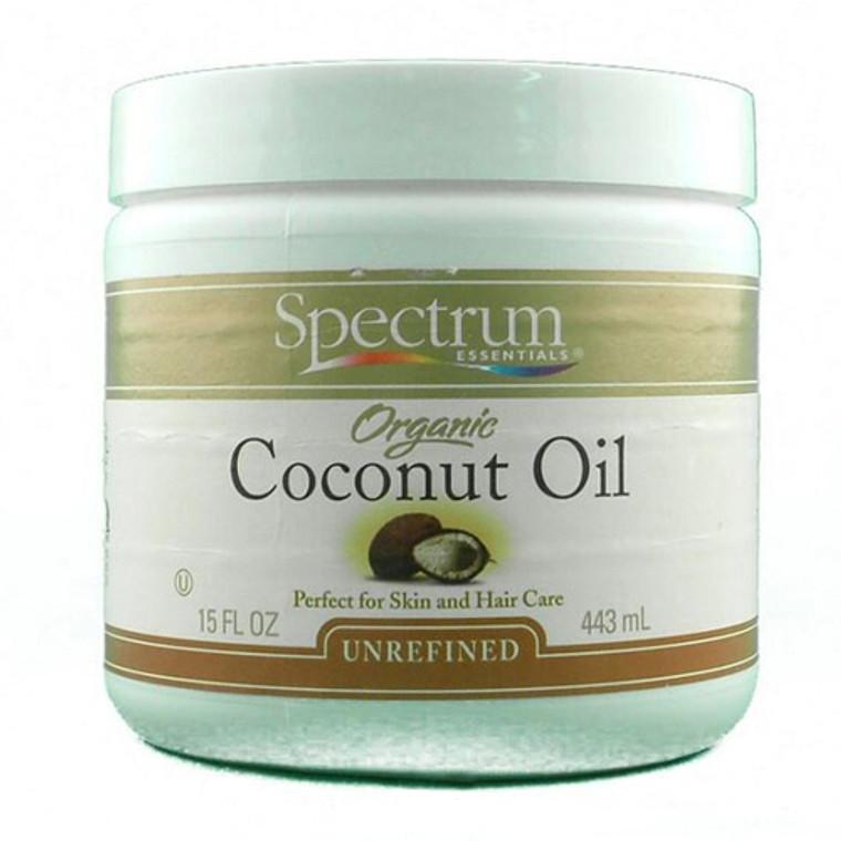 Spectrum Essentials Organic Coconut Oil, Unrefined - 15 Oz