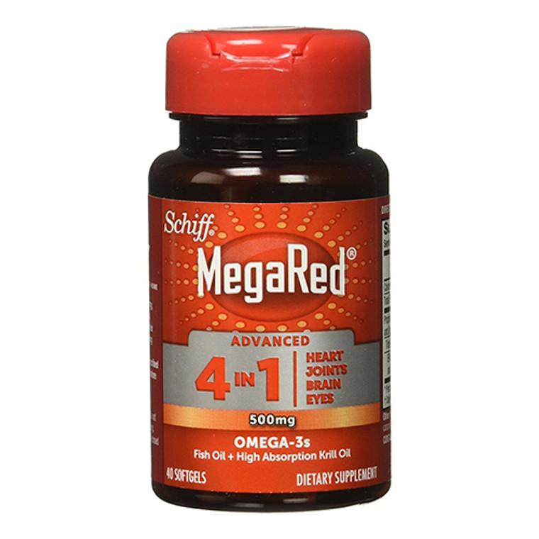 Schiff Megared Advanced 4 in1 Omega-3S Krill Oil 500 Mg Softgels, 40 Ea