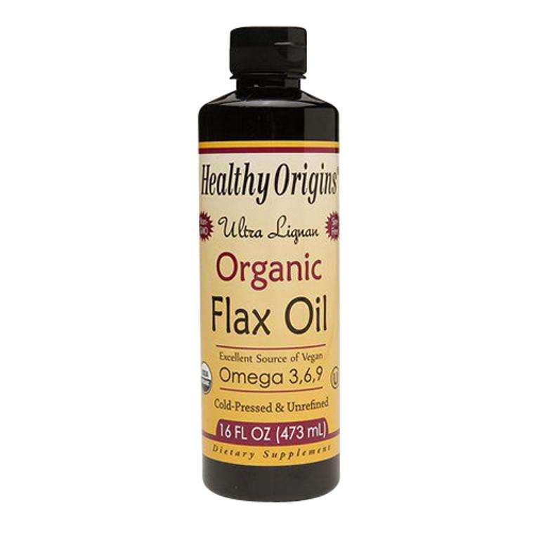 Healthy Origins Ultra Organic Flax Oil Lignan For Heart Health, 16 oz