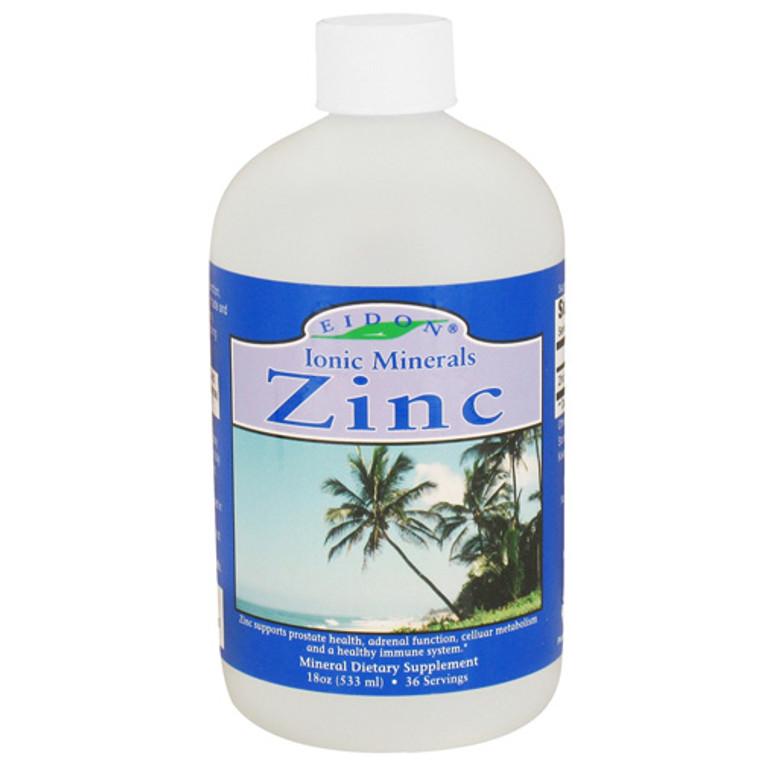 Eidon Ionic Minerals Zinc Liquid, Mineral  Dietary Supplement - 18 Oz